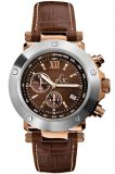 Guess GC Collection Chronograph Brown Leather Strap 45003G1
