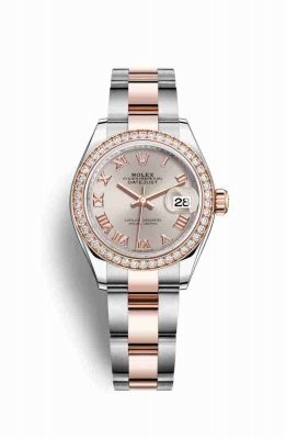 Rolex Datejust 28 Everose gold 279381RBR Sundust Dial Watch Replica