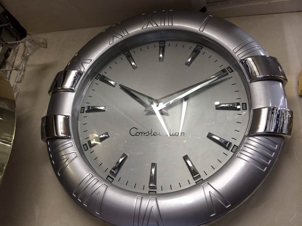 Omega Constellation Wall Clock with Silver Dial